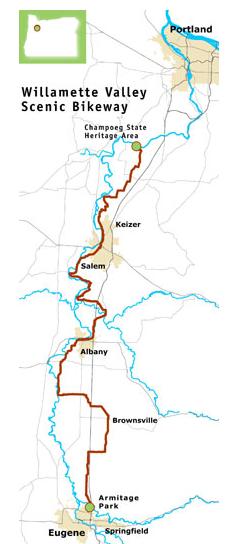 The Oregon Scenic Bikeway Biking Bis