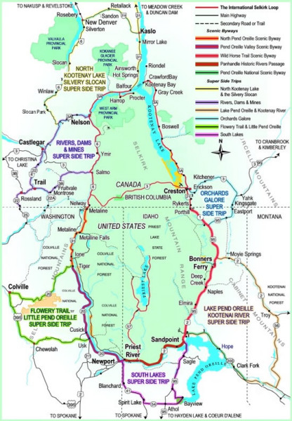 Bike Tour Maps Published For Northwest39s Selkirk Loop
