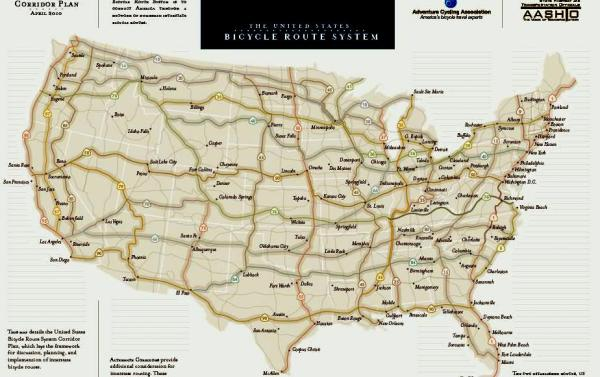 27 States Making Progress On Us Bicycle Route System Biking Bis - Us-bicycle-route-system-map
