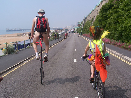 Brighton Naked Bike Ride: The Day in Pictures