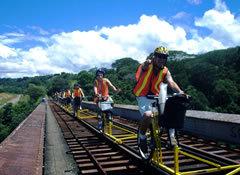 Railbikes Ride In The Tracks Of The Iron Horse Biking Bis