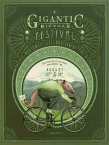Gigantic Bike Fest poster 2014