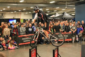 Ryan Leech draws a crowd Saturday at Seattle Bicycle expo