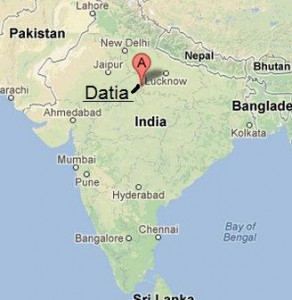 Location of Datia district in India