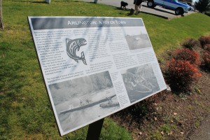 Historical sign in Arlington