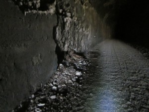 Deteriorating conditions inside Tunnel 47