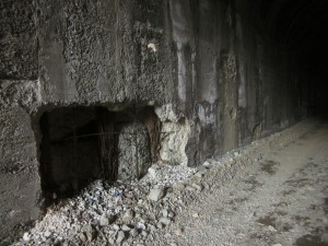 The wall of tunnel 49