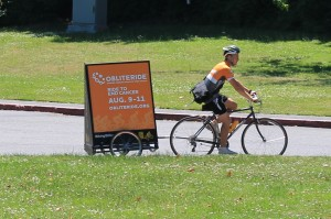 Advertising charity ride