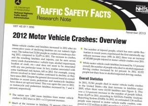 2012 federal traffic fatality report