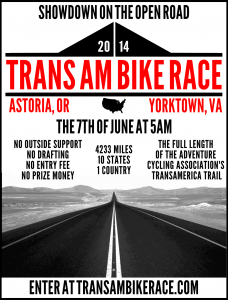 Trans Am Bike Race poster