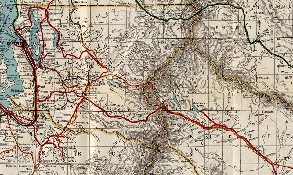 Dept. of Public Works map from 1928 Washington state