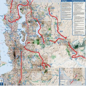 Rail trails on King County Bicycle map