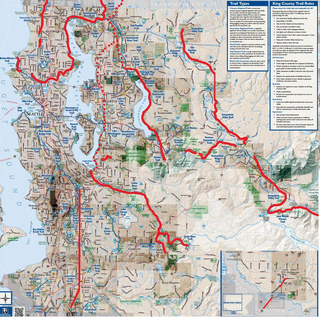 Vintage Washington Map Shows Today S Rails To Trail