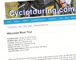 Sample page from Cyclotouring.com