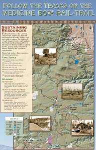 Map of Wyoming's Medicine Bow Rail-Trail
