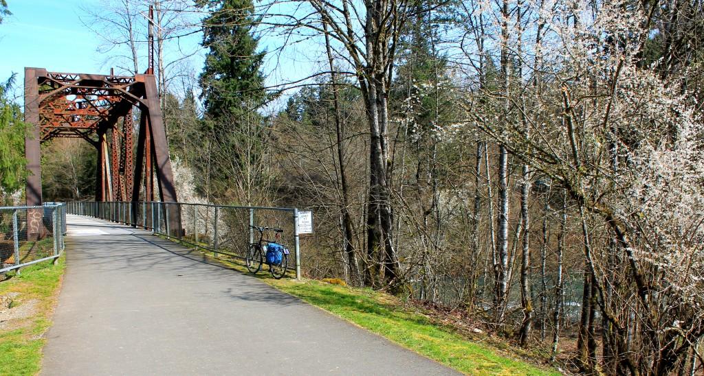 Trestle crossing on Cedar River Trail near Maple Valley