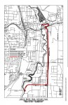 Green River Trail detour in red