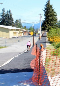 Trail avoids access to industrial park