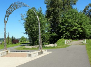 Junction of Whitehorse Trail and Centennial Trail  in Arlington