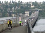 Bike to Work day traffic on I-90 bridge