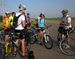 Roadside jam session on Biking Across Kansas