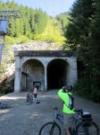 Visitors to Snoqualmie Tunnel after it reopened in 2011.