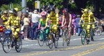 Painted cyclists