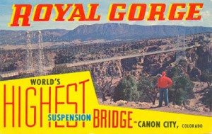 Royal Gorge Bridge postcard