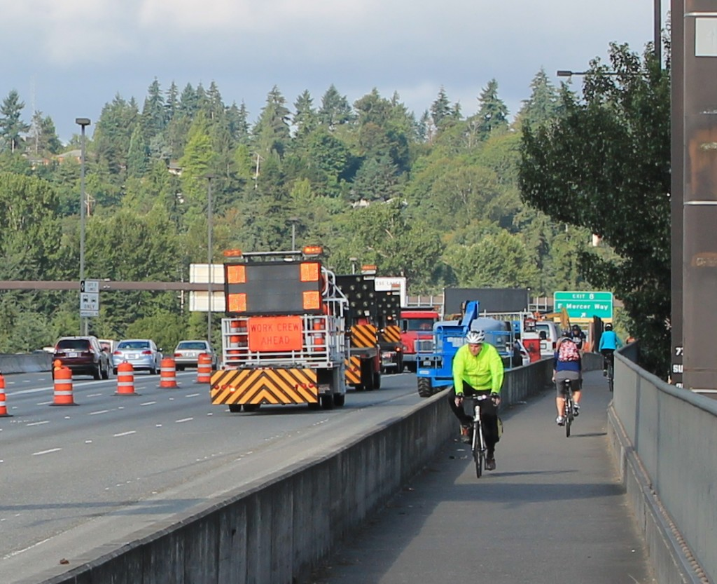 More bike commuters on Eastern Connector bridge