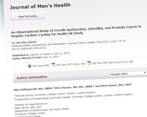 Study in Journal of Men's Health