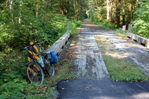 """This truck bridge is the only """"old"""" part of trail"""