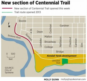 2014 section; Spokesman Review map