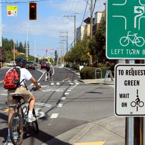 Linden Avenue cycle track, Seattle's first