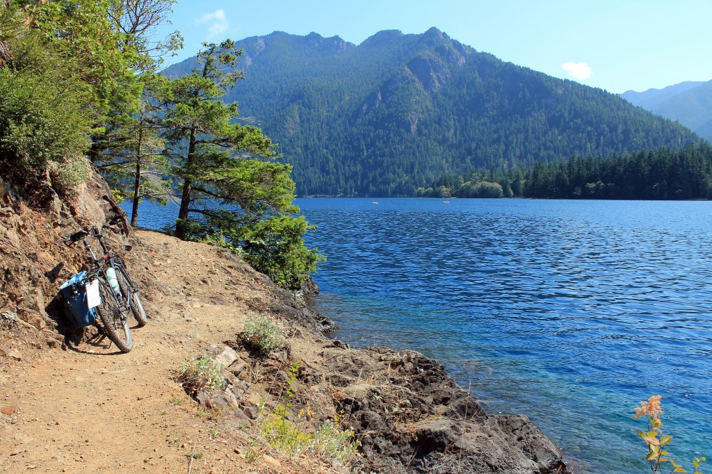 Spruce Railroad Trail on Lake Crescent in Olympic National Park