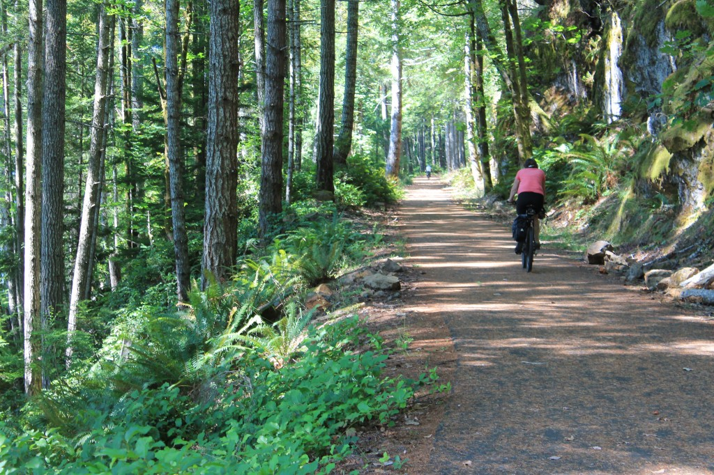 New sections of Spruce Railroad Trail are paved.