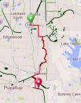 Bike route from Interurban to Foothills trail