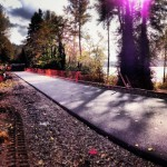 East Lake Sammamish Trail north segment paving; King County photo
