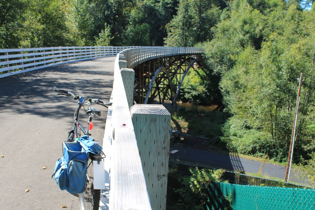 """View from """"trail to nowhere"""" bridge on Foothills Trail"""