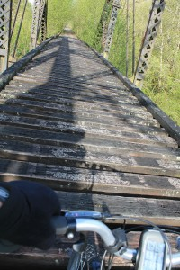 No deck on bridge over Chehalis River