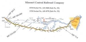 Rock Island Railroad corridor, from MoBikeFed