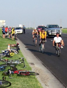 Bikes on a Kansas roadside