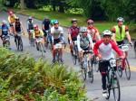 STP cyclists on Lake Washington Boulevard, 2012