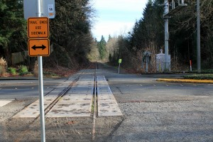 End of the trail; abandoned tracks owned by King County resume toward Bellevue