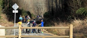 Lots of young cyclists on Cross Kirkland Corridor in 2015