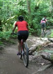 Bikers at Duthie Hill Park, devoted soley to mountain biking