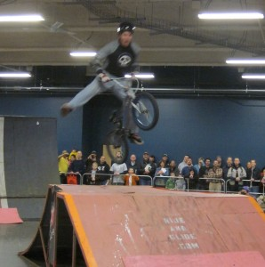 Big air at bike show