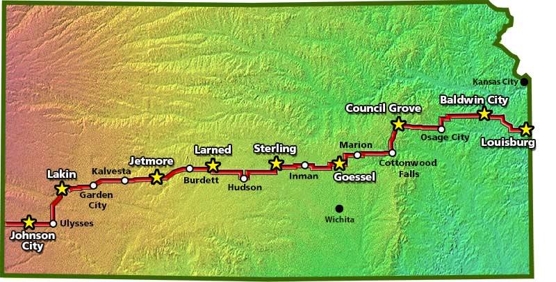 2015 B.A.K. route