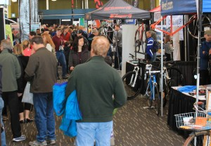Crowded aisles at previous bike show