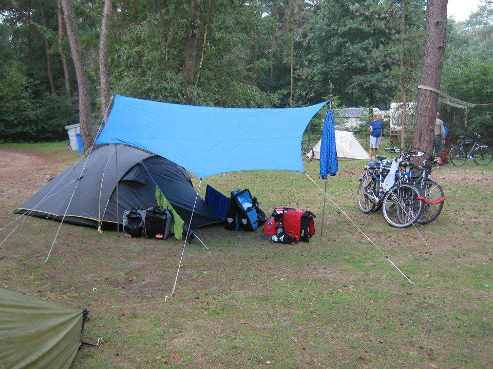 Tarp-tent bike c&ing set up from Hendrik Christenhusz & How to keep your bike gear dry during wet bike camping u2013 Biking Bis