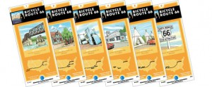 Set of 6 Route 66 Bicycle Route maps